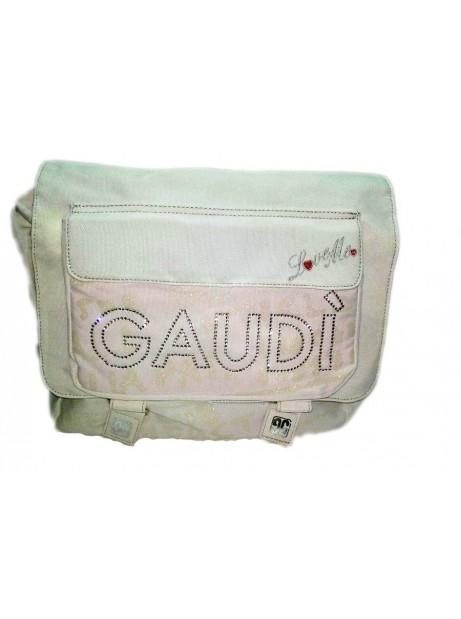 Borsa Messenger GAUDI con Tracolla 36x28x10 cm Con strass e Tasca Frontale