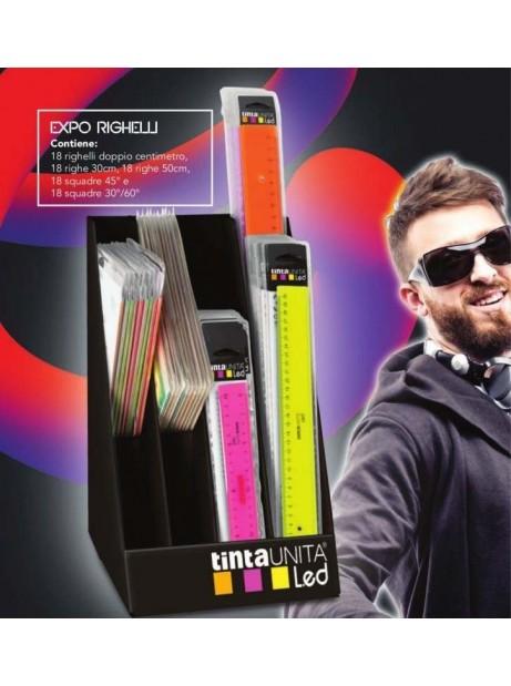 Riga Led Fluo 50cm in custodia Plastica colori assortiti