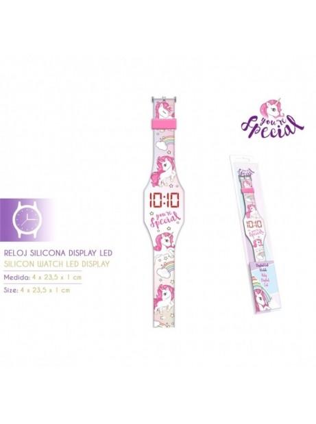 Orologio digitale Unicorno Led cinturino in silicone per bambine