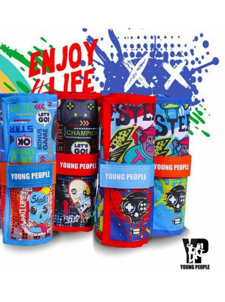 Rotolo 24 pastelli Tinta Unita Young People borsellino colori a matita 2021