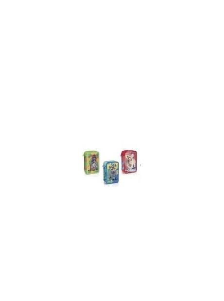 Astuccio 3 Zip Fila Animali- Colori Giotto