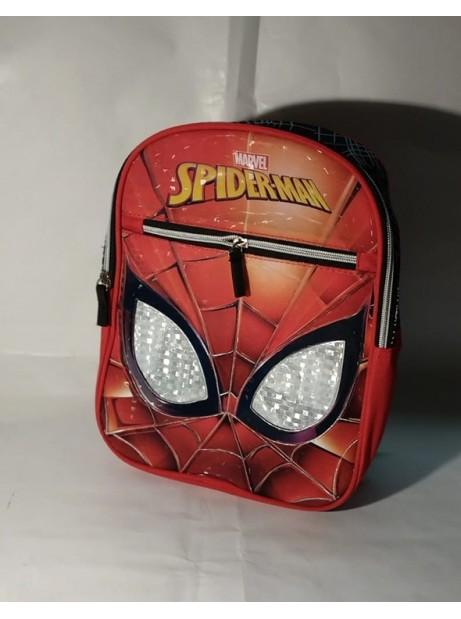 Zainetto Asilo Spiderman con 2 zip - Spallacci Imbottiti e regolabili 30x23x10cm