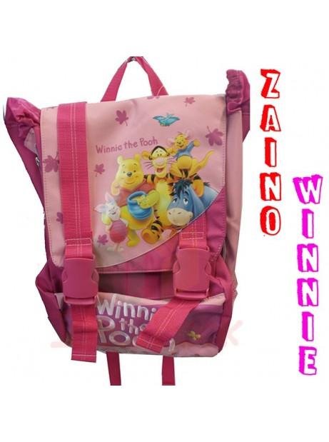 Zaino Scuola Estensibile Winnie The Pooh Elementari Bambina Rosa