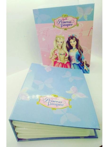 Album porta foto con cofanetto Barbie Princess and Pauper