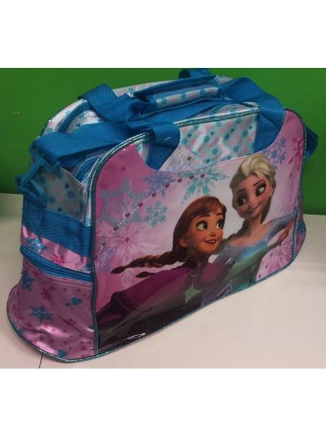 Borsone sport Disney Frozen Anna Elsa 28x53x19cm