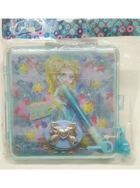 Diario segreto con ucchetto + penna BUBBLE GIRL bambina regalo