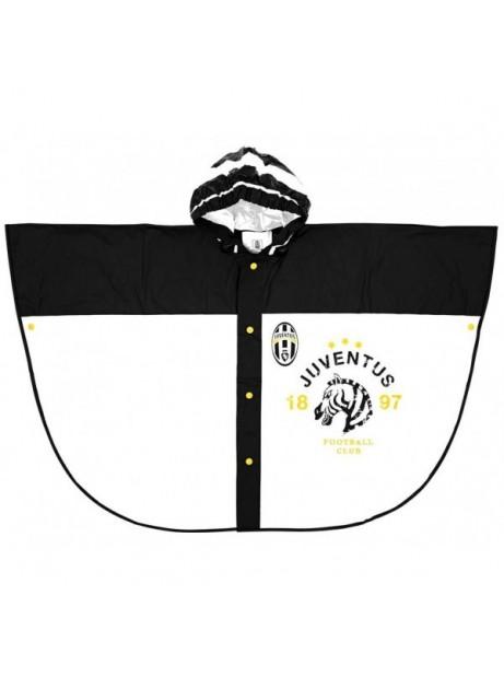 Poncho Pioggia Juve Mantella Impermeabile con cappuccio Bambino 55cm Prodotto ufficiale