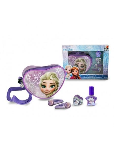 Set regalo Frozen borsetta + smalto + fermacapelli