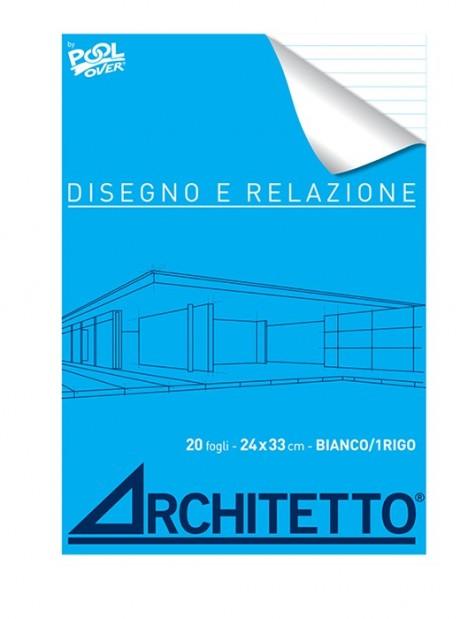 Album Disegni e Relazioni Righi 1R 24x33 ARCHITETTO Fogli 20 Quaderno Schizzo
