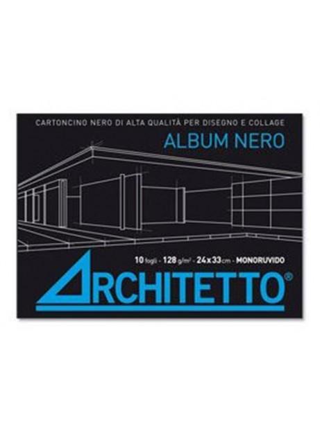 Album Disegno Nero - Carta Monoruvida - 24x33cm -128 g/m - Fogli 10