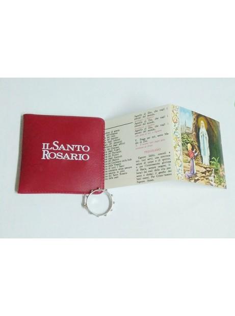 Anello del rosario con libricino e custodia