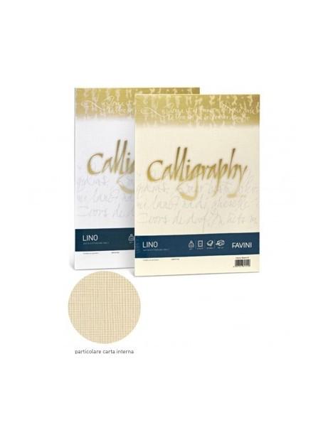 Carta Favini Calligraphy LINO- BIANCO 01 - 200 GR 50 FG