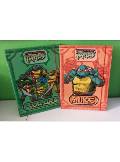 Cartellina c/Elastico 24x34 cm Ninja Turtles  D. 1cm