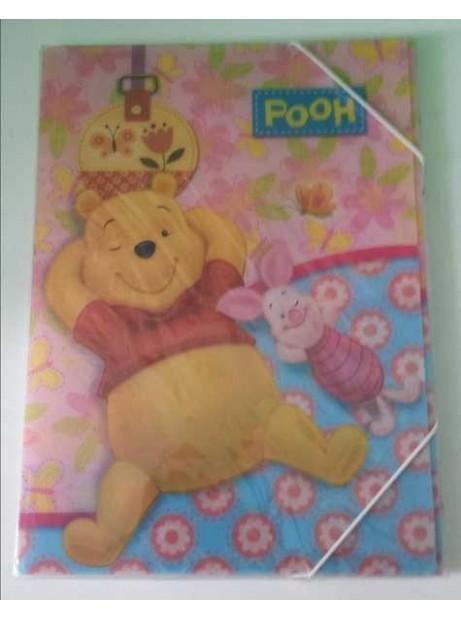 Cartellina c/Elastico 24x34 cm Winnie The Pooh D. 1cm